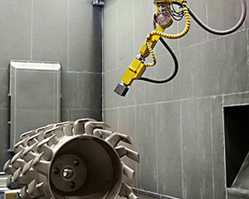 机器人喷砂房